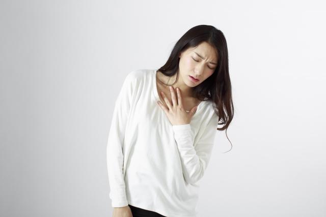 肺がん症状の息切れ・呼吸困難イメージ